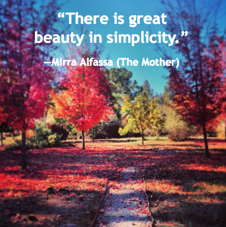 Beauty-in-Simplicity-Mirra-Alfassa-daily-quote-inner-path