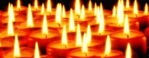 Lighting candles of devotion