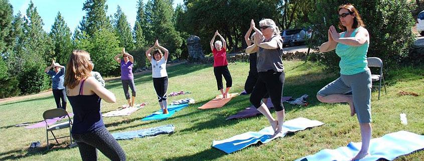 Mariah Simpson's outdoor yoga class